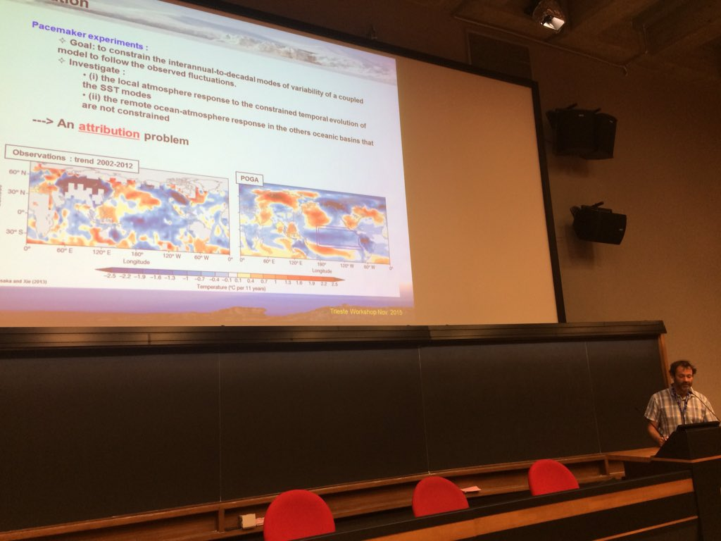 How will the next generation climate models perform ? C. Cassou discusses CMIP6 pacemaker experiments #clivardec https://t.co/NFxasNXHYz