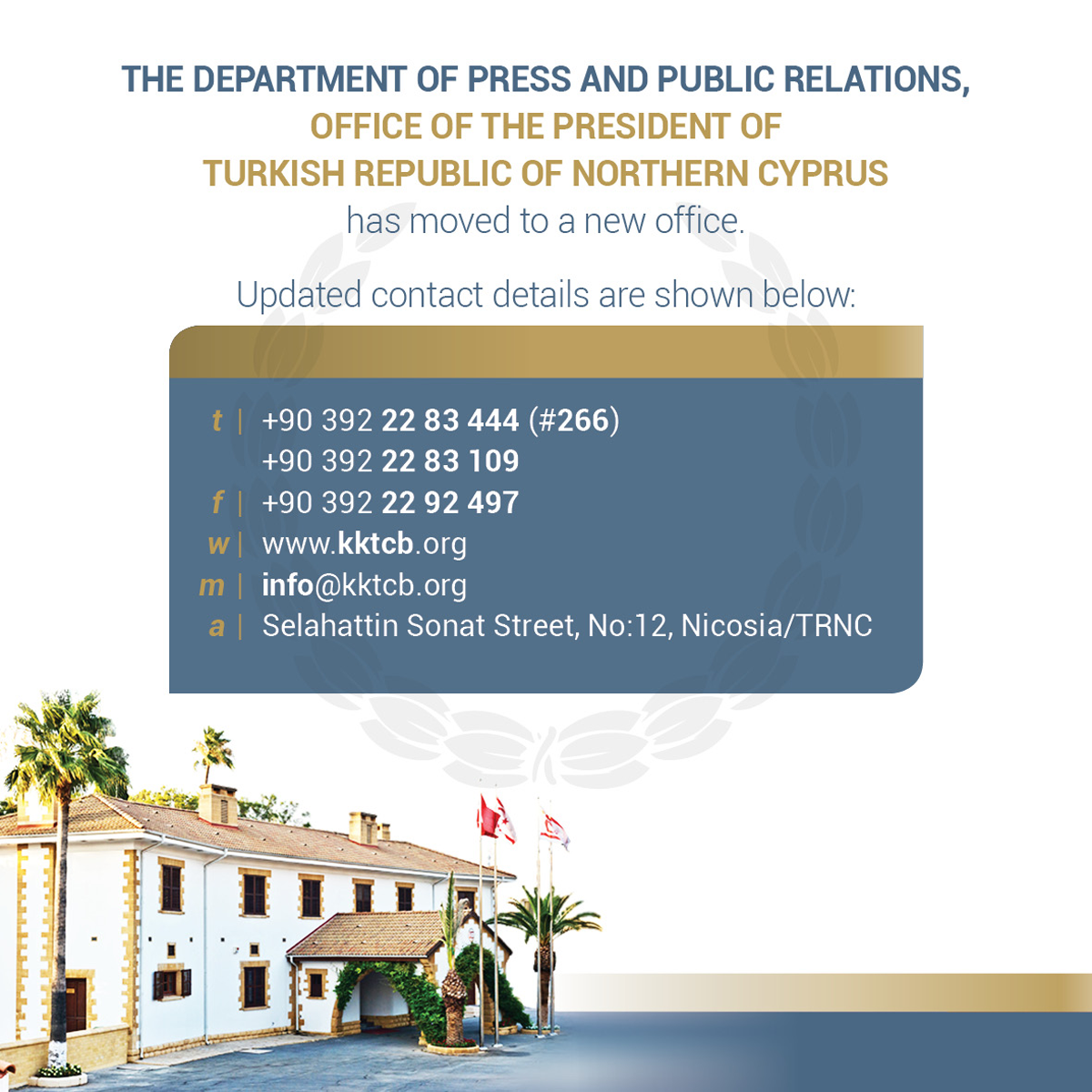 The presidential Press and Public Relations Office has moved to a new office. https://t.co/a77YZzRZ5U