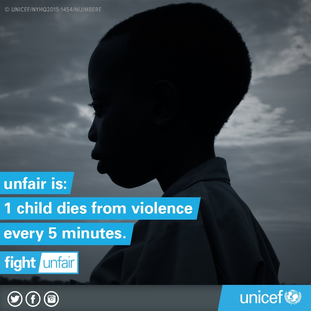 Every 5 minutes across the world a child dies from violence #FightUnfair https://t.co/G5F0b64Bnx #childrightsday https://t.co/iMQPrfNIVv