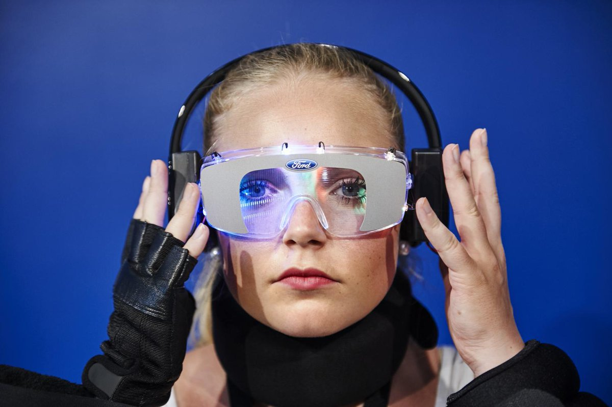 The press shots of the Ford Drug Driving suit are great. A disco in your eyes, then they lob volleyballs at you...