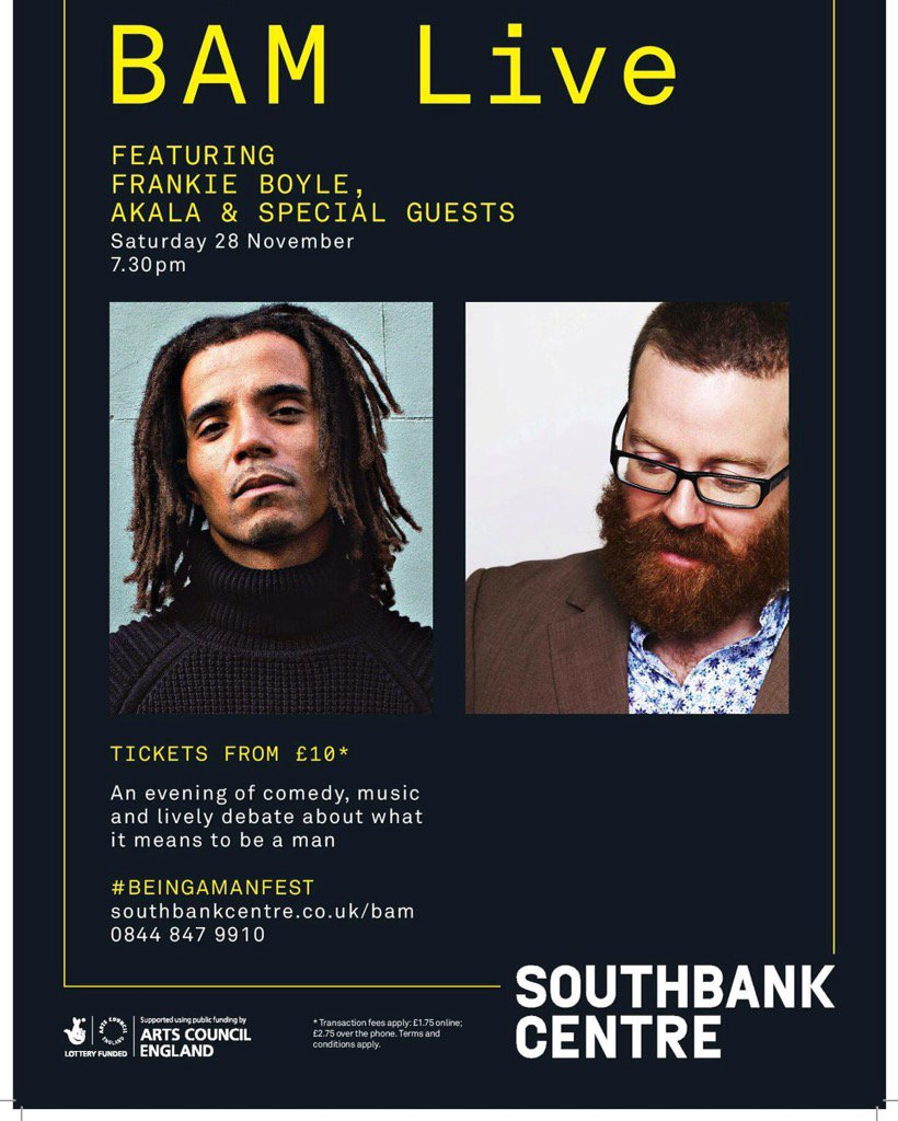 RT @akalamusic: Music, comedy, politics, discussion ft me @frankieboyle @jajapdc @Anthony1983 @Joshoshomusic 28th NOV https://t.co/hit0IwPt…