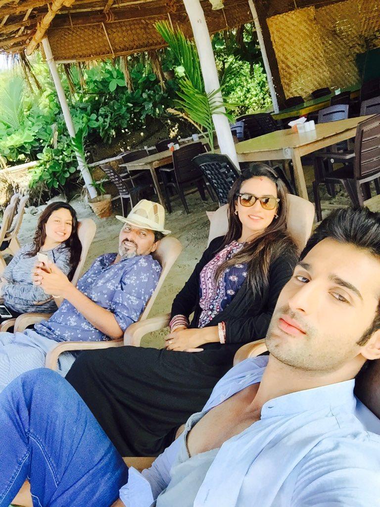 Tashan E Ishq Kunj and Twinkle in Goa - off screen picture