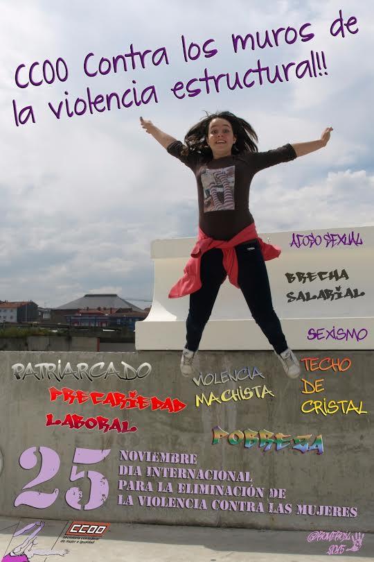 CCOO contra los muros de la violencia estructural #25N @CCOOclm @RevTrabajadora https://t.co/oiW3MnajFF