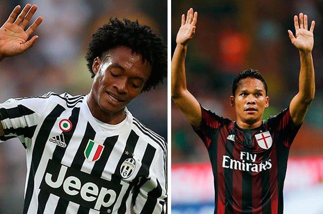 Cuadrado (Juventus) vs Bacca (Milan), i due colombiani a confronto in diretta tv streaming.