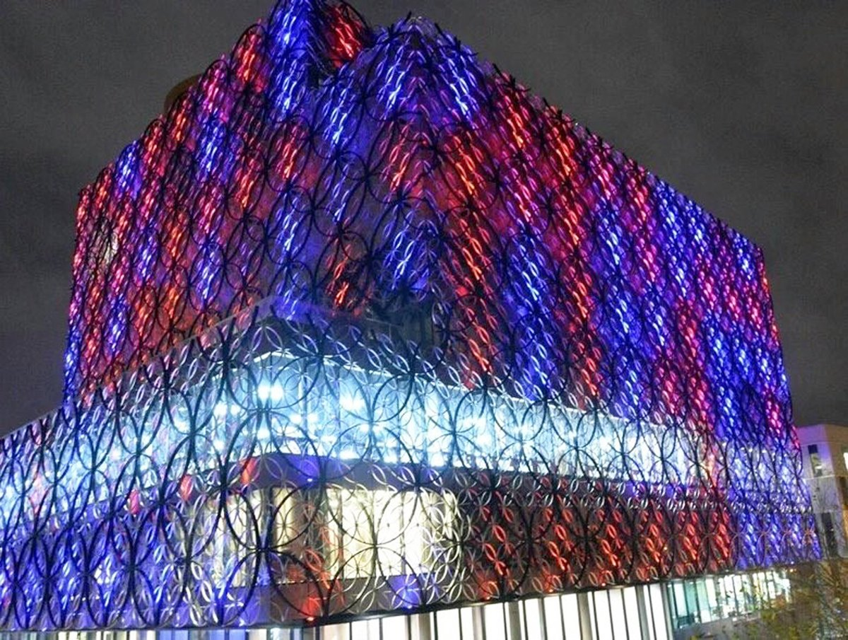 Library of Bham to be lit 5pm-12am tomorrow for victims of terrorism globally, inc Bham pub bombings 41 years ago https://t.co/eMPLWsb9Yv
