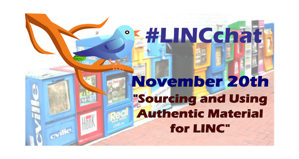 Today is #LINCchat day! 10:30a-11:30a PST / 1:30p-2:30p EST. Spread the word! #cdnELT #PBLA https://t.co/VsvI7Wsfb6