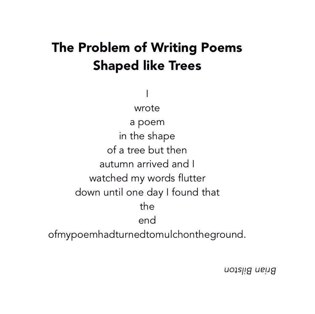 """Poem About A Christmas Tree: Brian Bilston On Twitter: """"Here Is A Poem Entitled """"The"""