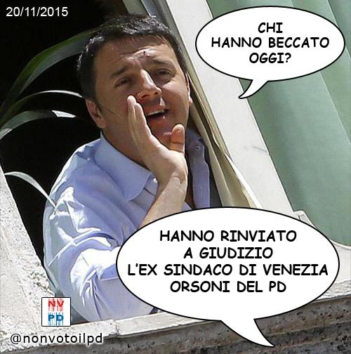 Mose: rinviato a giudizio anche #Orsoni (PD) ex sindaco di Venezia