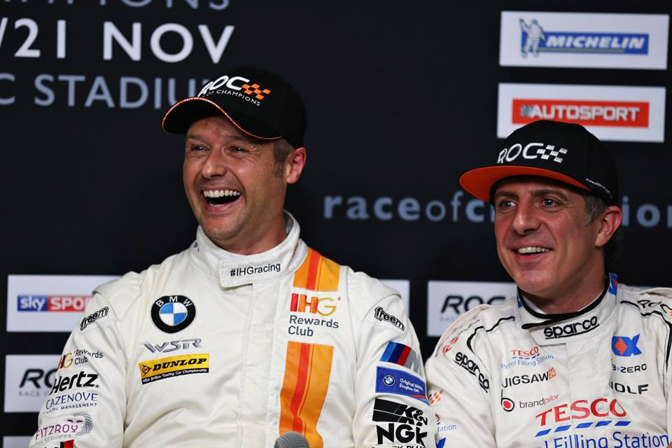Jason Plato & Andy Priaulx win Race of Champions Nations Cup 2015 >> https://t.co/OI45xmC0Zd #BTCC https://t.co/eHyp1rYyv6