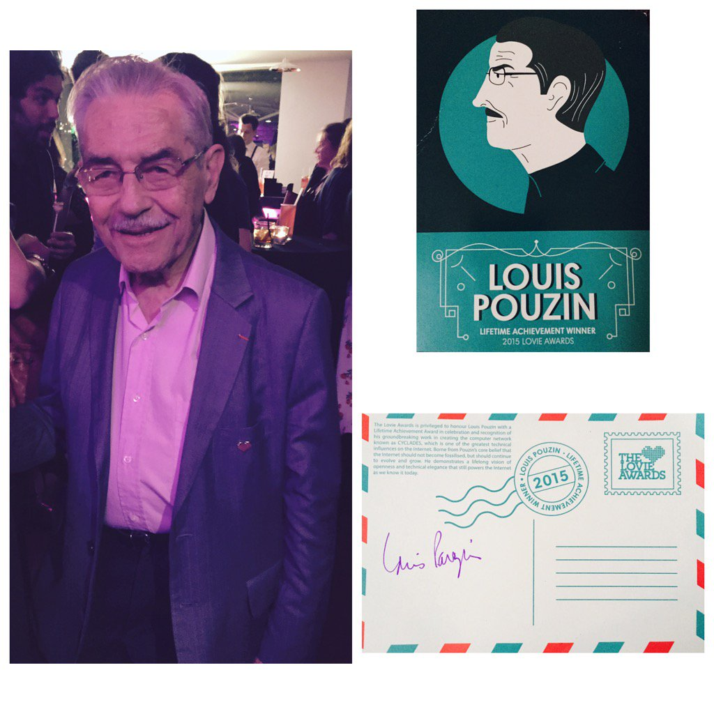 #LouisPouzin&#39;s #cyclades integral to THE #internet. doing that thing so we can do ours. @thelovieawards #lovies<br>http://pic.twitter.com/MCOLiFygtG