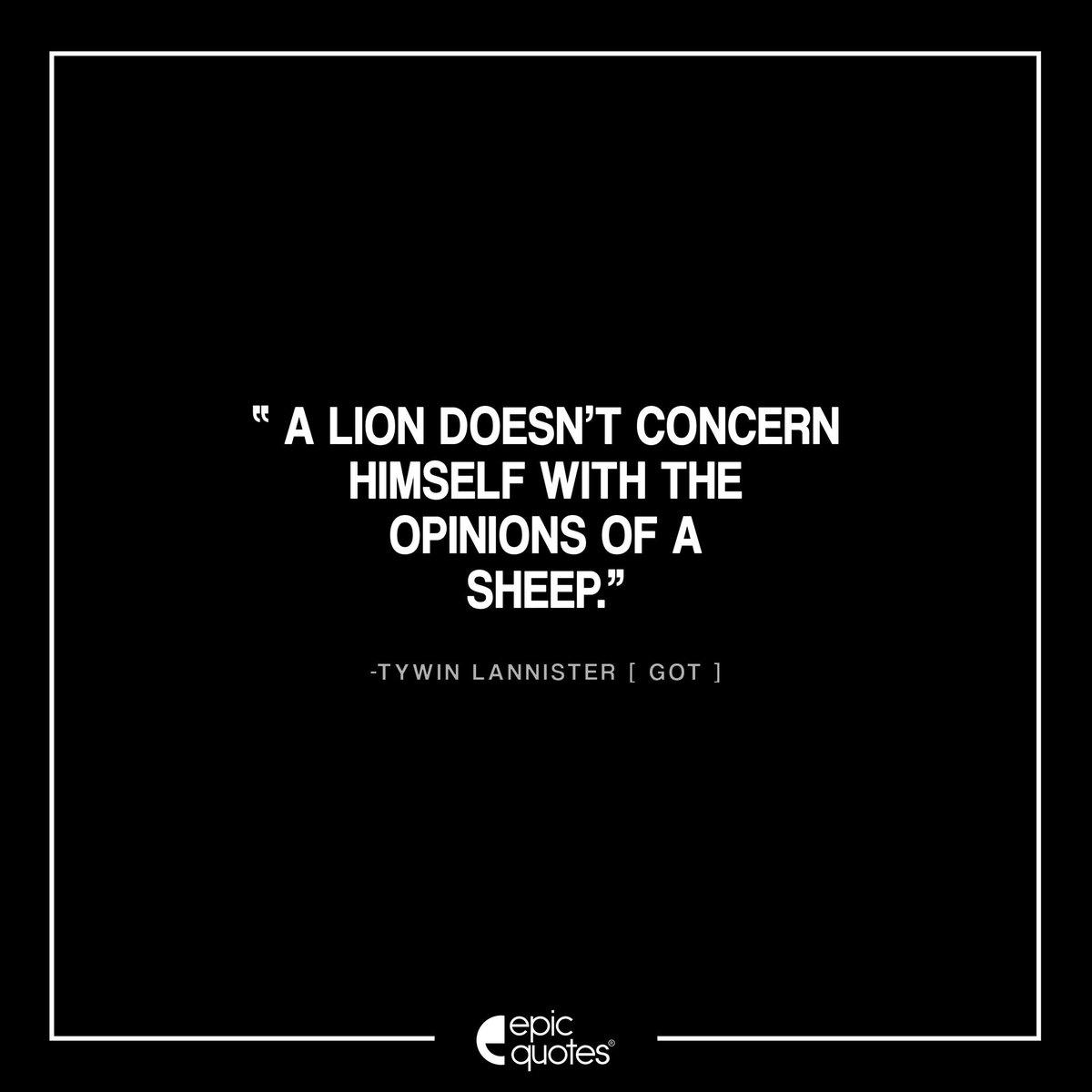 Epicquotesin On Twitter 116 Lion Sheep Powershell Tywin