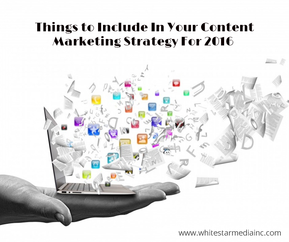 Content Marketing Strategy For 2016