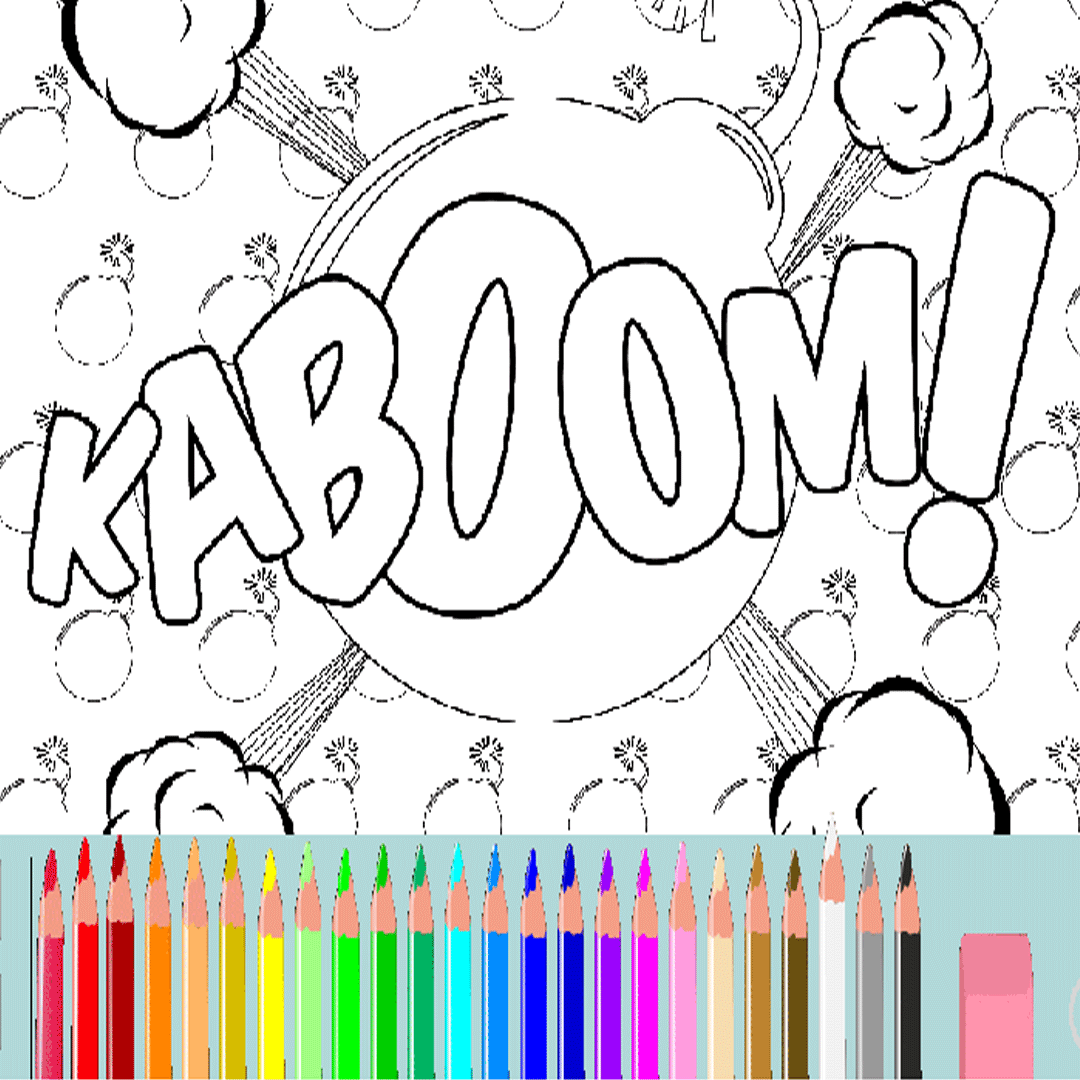 I Love Onomatopoeia on Twitter 16 FREE Comic Coloring Pages at