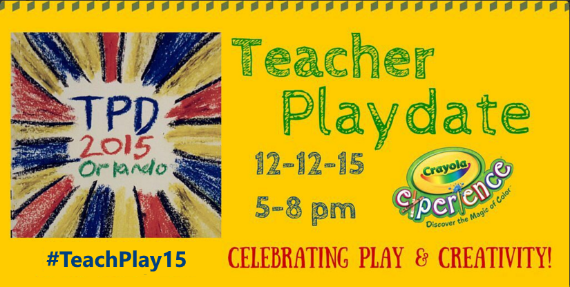 Join us! The 1st Teacher Playdate at @Crayola Experience is set! 12/12/15 https://t.co/Z9CLSausWC  #TeachPlay2015 https://t.co/953qjdJTIA