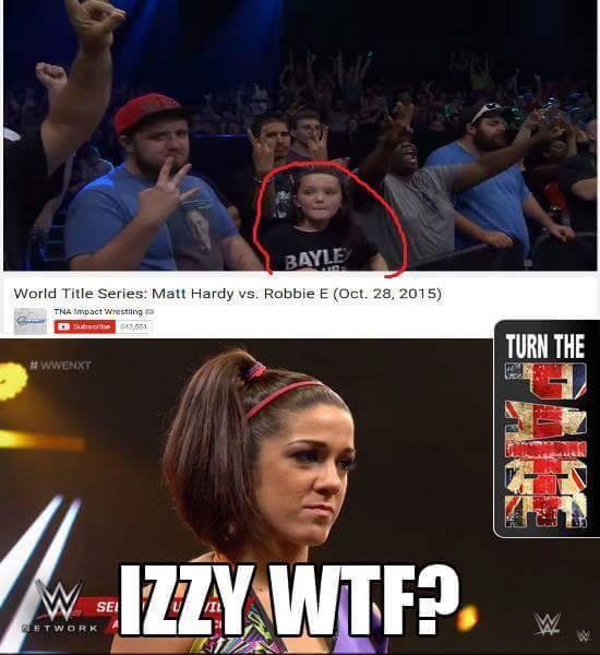 Pro Wrestling Memes On Twitter Izzy Wtf Wwe At Itsbayleywwe
