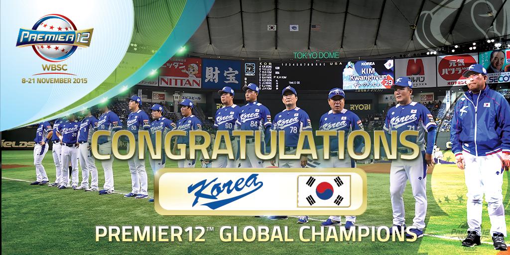"""WBSC ⚾🥎 على تويتر: """"Korea WINS..."""