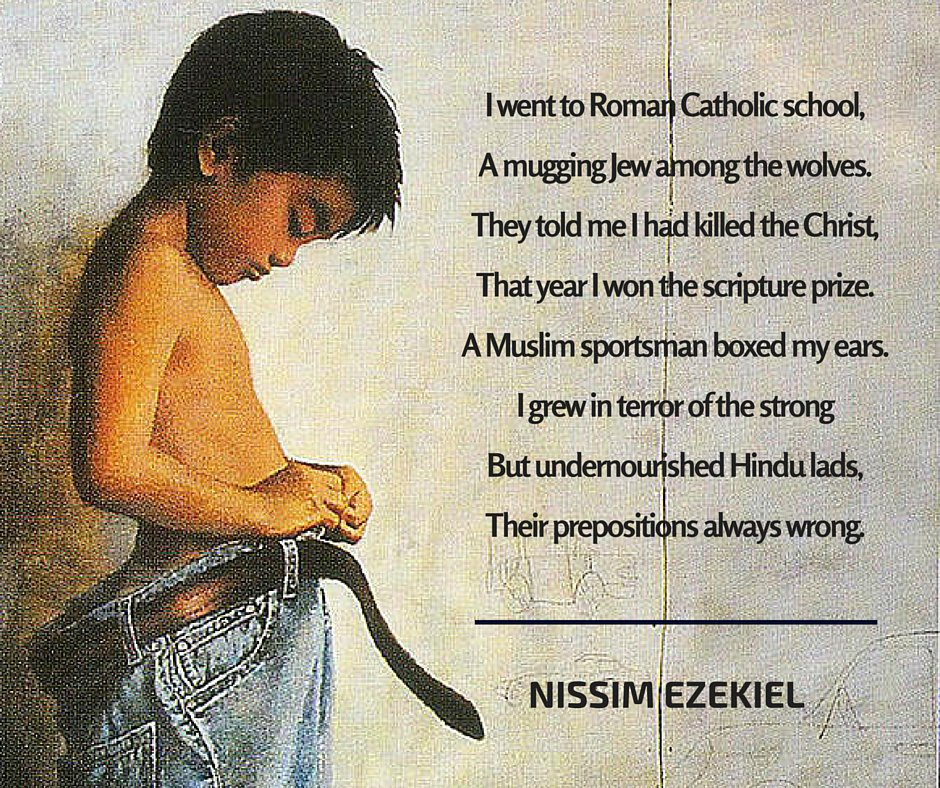 a visitor by nissim ezekiel Excerpts from review:'when adil jussawalla threw an impromptu party for nissim's 70th birthday with wine from vasai and pizzas from colaba, there were three generations of poets roiling around him.