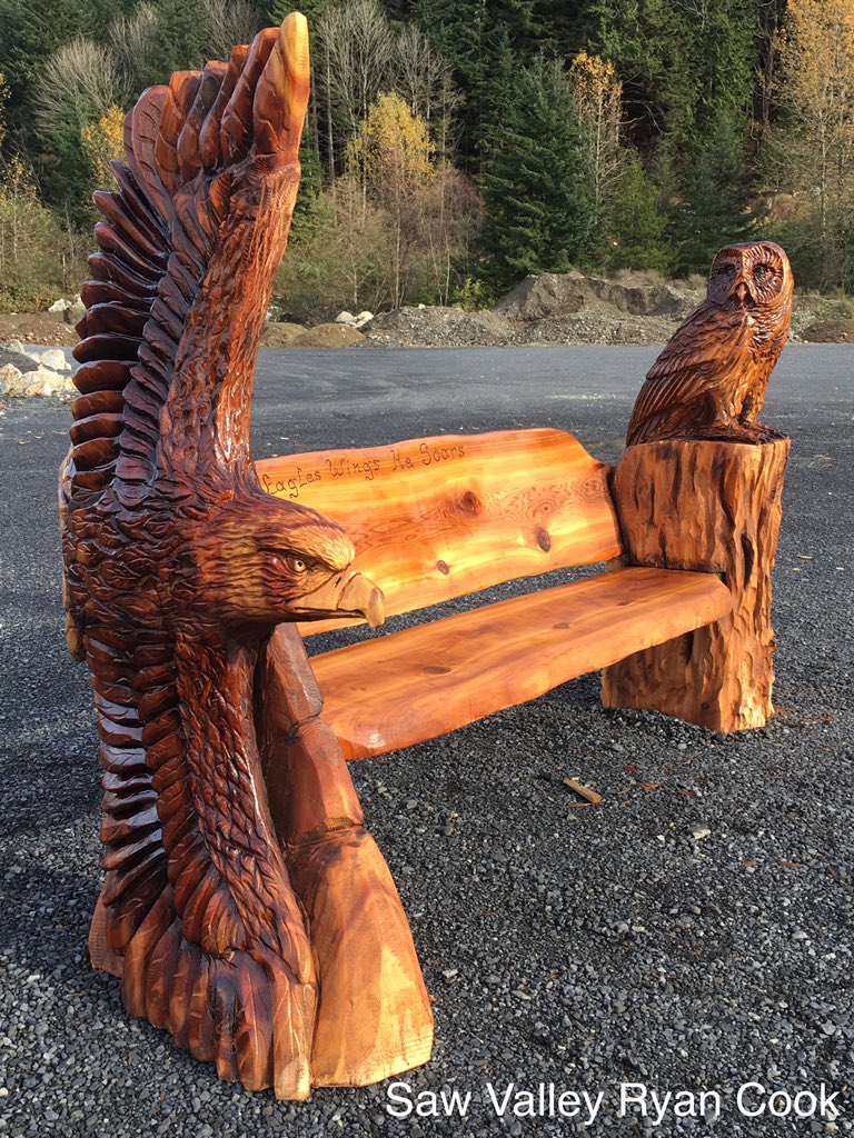Ryan cook on twitter quot i loved carving this memorial bench