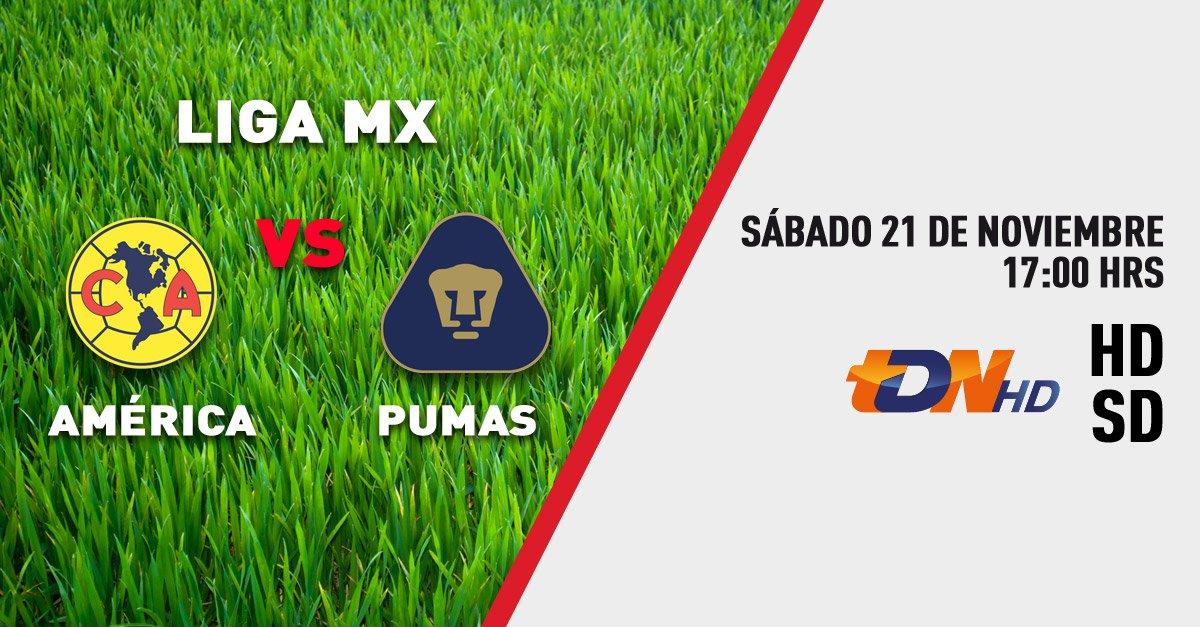 Sábado de clásico en la #LigaMX. América vs Pumas a las 5pm por TDN. https://t.co/urFQMq1bT5