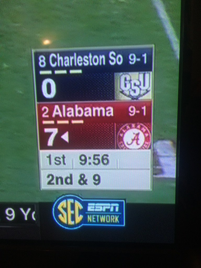 The SEC Network is using I-AA Charleston Southern's I-AA ranking. This is not a joke. https://t.co/BvAN6bpu2E