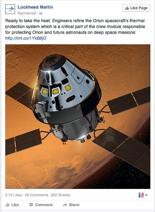 Lockheed Martin Orion Spacecraft in Martian Orbit