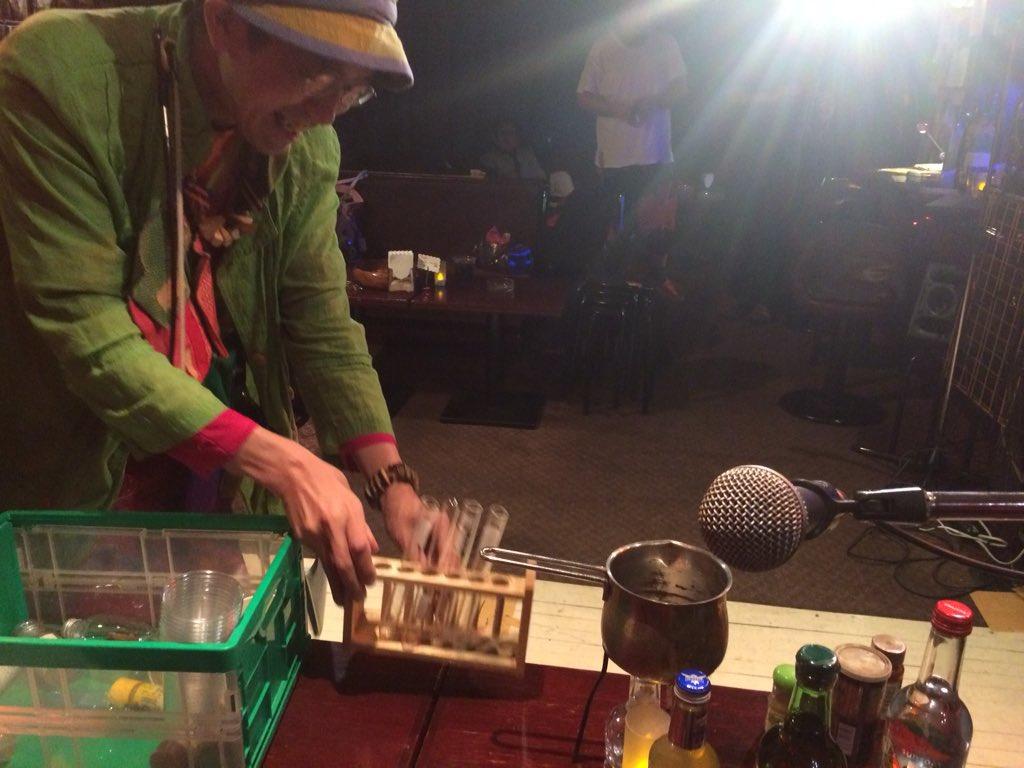2015/11/21 Sat 「御苑DJ」。「ひんでんドリンク」。魔の実験が始まる、深夜1時の新宿御苑RUTO。