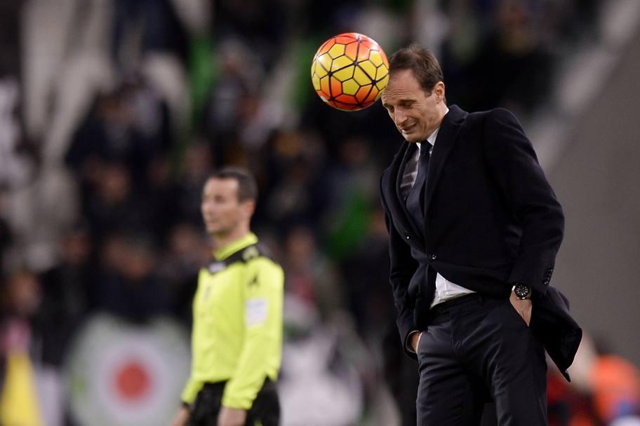 Allegri in Juventus-Milan 1-0 del 21 11 2015.