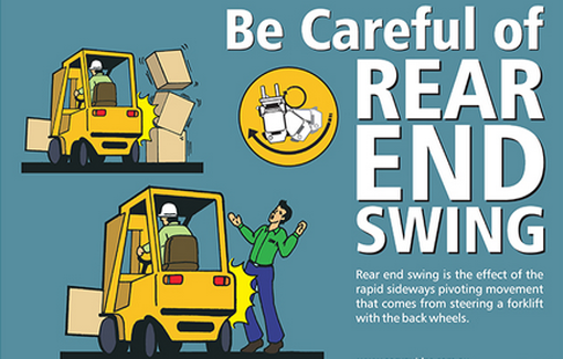 Toyota Equipment On Twitter Quot Safety Beware Of Forklift Rear End Swing Https T Co