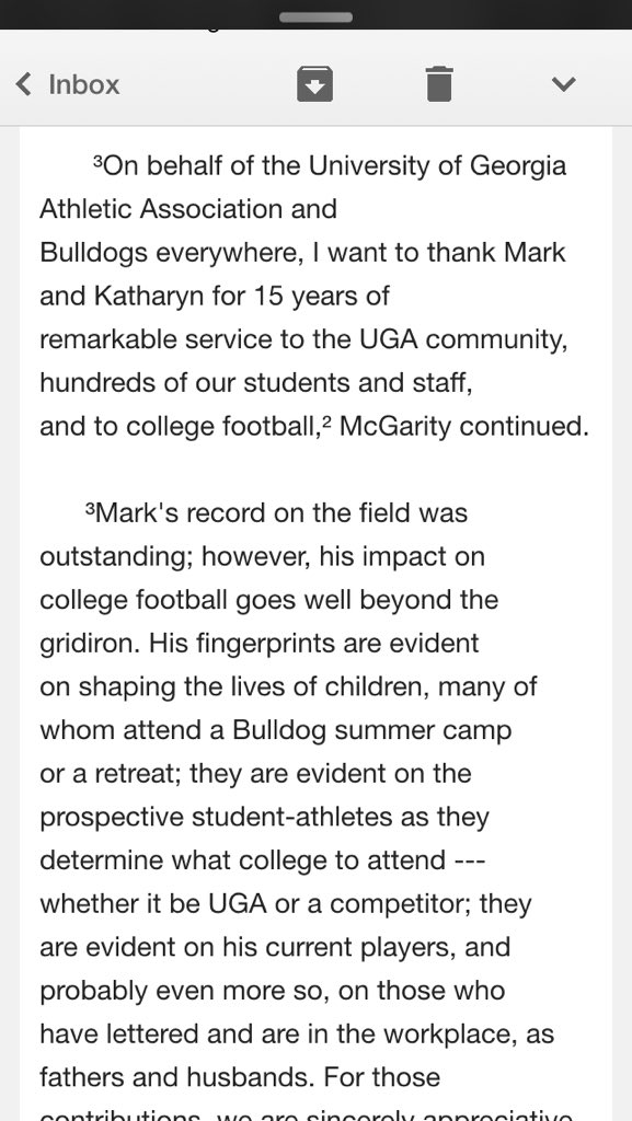 UGA confirms Richt is stepping down with statement from AD Greg McGarity https://t.co/1uzDaluIka