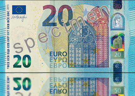 Entrano in vigore i nuovi 20 euro