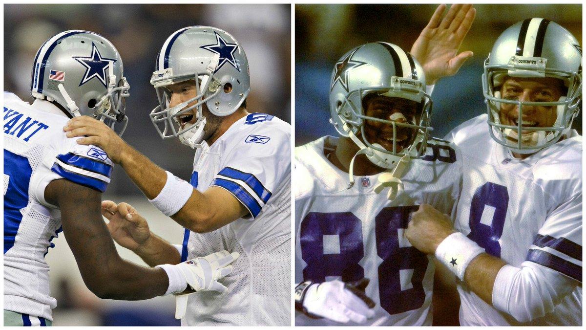 Qb Wr Cowboys History Tony Romo Dez Bryant Troy Aikman