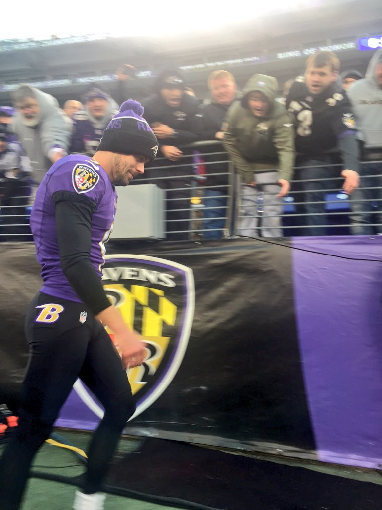 "Justin Tucker said, ""Now we're going to go to the locker room and have a freaking party."" https://t.co/ObOHkHWbRw"
