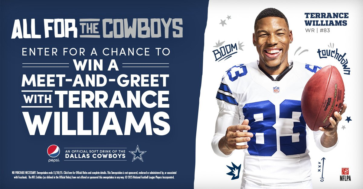 Dallas cowboys on twitter enter for a chance to win a meet and 200 pm 22 nov 2015 m4hsunfo