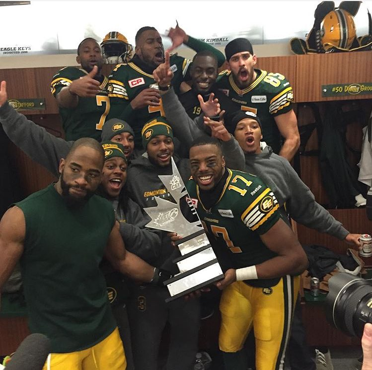 My career started w/ @EdmontonEsks... you got it boys! GREY CUP BOUND! #Canada https://t.co/fufX7884NV