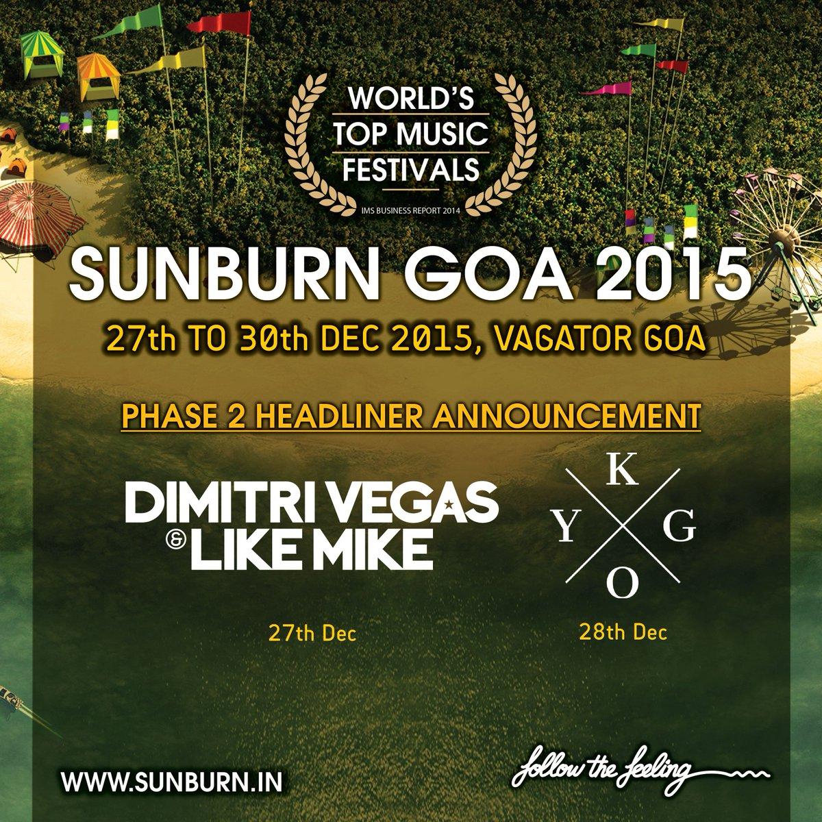 We are bringing Worlds #1 @dimitrivegas @likemike & @KygoMusic to #SunburnGoa alongwith @davidguetta & @MartinGarrix https://t.co/gRRtpNwi9W