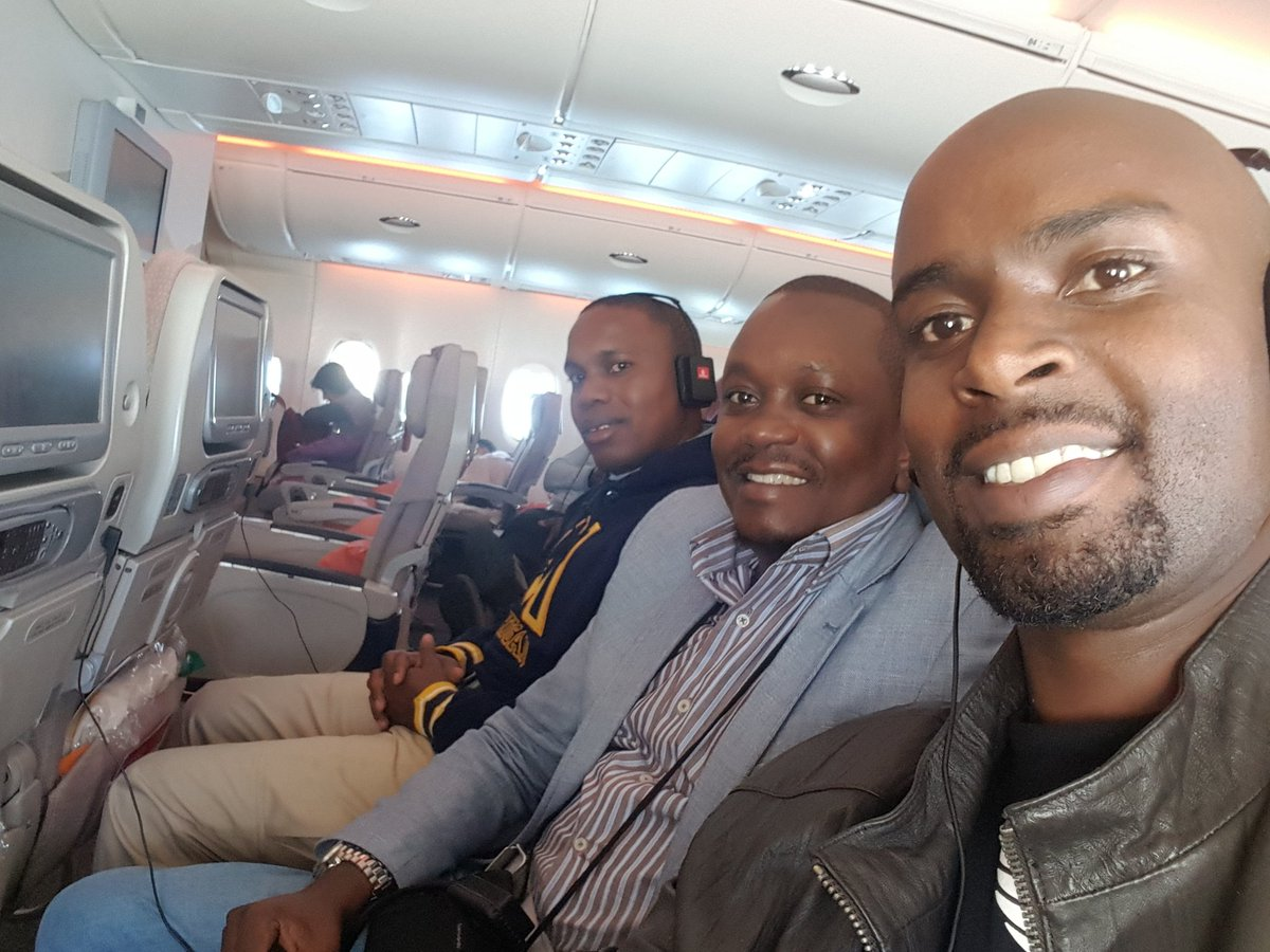 Enroute to Rome to accompany the Pope on his Africa tour from Wednesday with @MarkMasai and @ephymwangi #PopeInKenya https://t.co/q0bvuO40lh