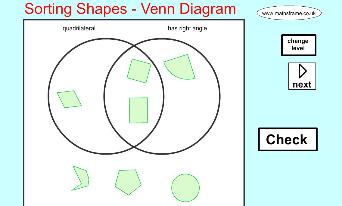 Venn Diagram Shape Sorting: Scott McKenzie on Twitter: Good web app for sorting 2D shapes ,Chart