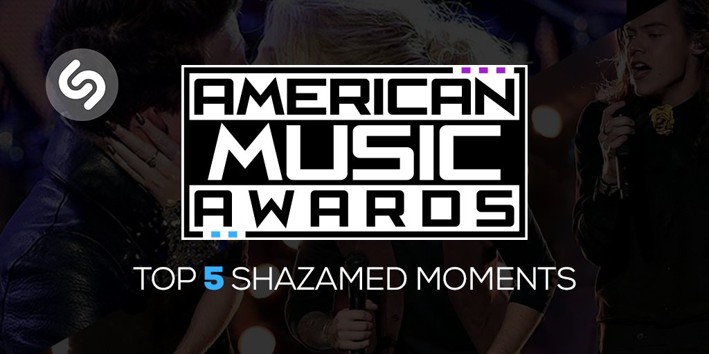 .@OneDirection's #AMAs performance was THE most Shazamed moment of the night. See them all: https://t.co/ToTebJV8zK https://t.co/LUzBff9bUs