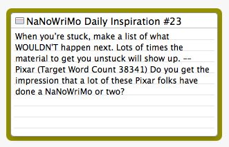 Daily inspiration for getting unstuck. #NaNoWriMo #writingtips #amwriting https://t.co/jKDL2Ksn96 https://t.co/nINU6mIdDK