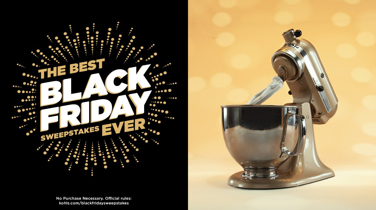 Have you seen the gorgeous new KitchenAid mixer color? RT for a chance to win! #KohlsSweepstakes #BlackFriday https://t.co/D1RahkOppB