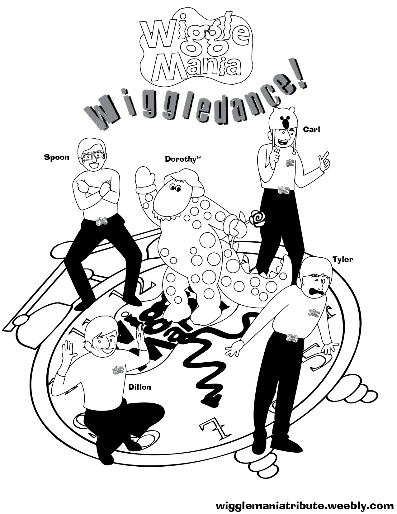 new wiggles coloring pages - photo#21