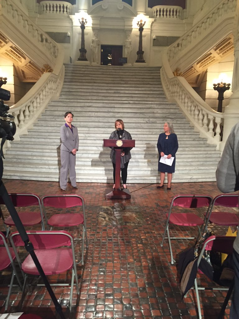 Press conference at the Capitol #StandForPa #PAPassABudget https://t.co/WgUnTLqajW