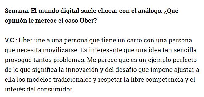 En un párrafo Vint Cerf explicó lo que ha llevado meses y hasta años de entender sobre @Uber_Col https://t.co/xk1FThxEy5