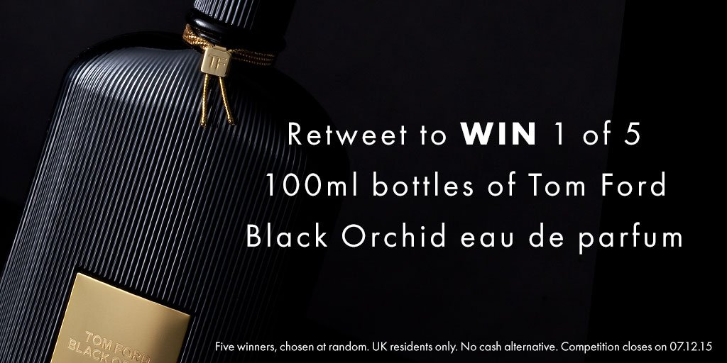 To celebrate our week of star buy deals, you could #win 1 of 5 bottles of Tom Ford eau de parfum - #retweet to enter https://t.co/rkC1WnqpRC