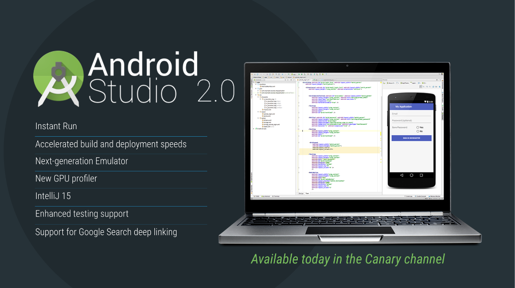Just announced: Android Studio 2.0 at #AndroidDevSummit keynote: https://t.co/DGQRgwnPoz https://t.co/nkuKAOdLUr