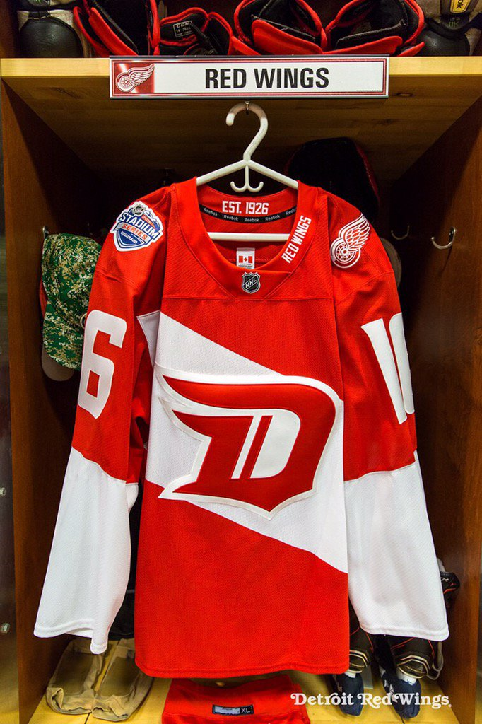 super popular 87be7 8891e Red Wings Stadium Series jersey revealed... | Page 6 ...