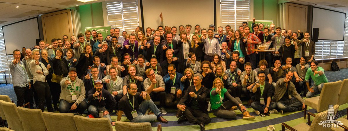 """""""@webanalisten: Congratulations - a pic of everyone that survived the #CH2015 weekend - Conversion Hotel 2015 https://t.co/lUPoR6BRhK"""""""