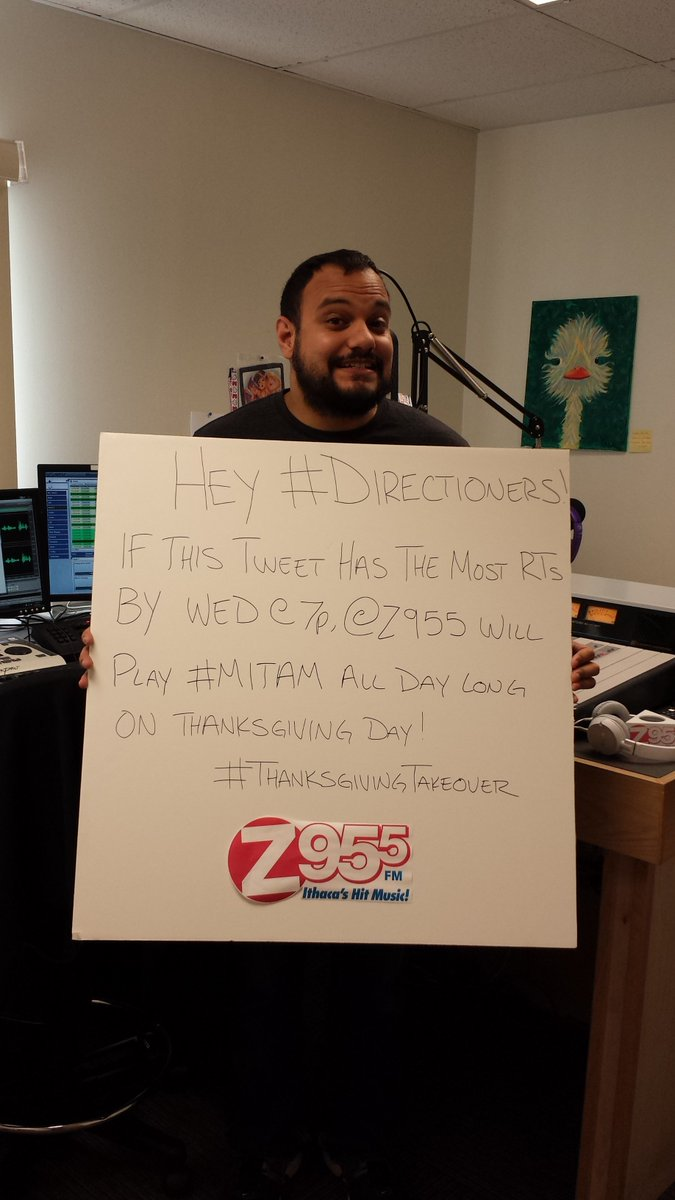Hey #Directioners! Wanna hear #MITAM all day on #Thanksgiving?! RT this as much as you can by Wednesday at 7p! https://t.co/JjQi5VBWti
