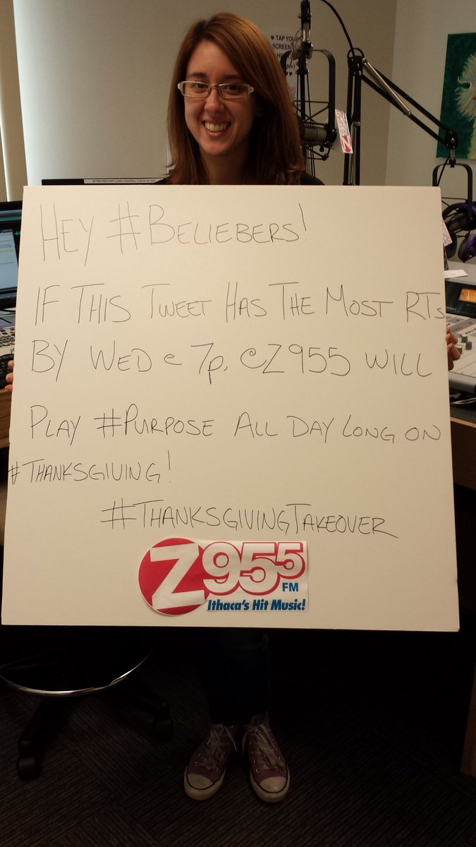 hey #Beliebers! Wanna hear #purpose all day on #Thanksgiving?! RT this as much as you can until 7p on Wednesday! https://t.co/Kz2DW1BMXu