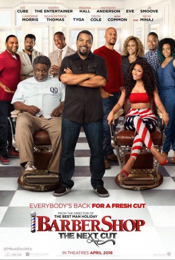 "Película » ""Barbershop 3"" |15/04/2016| CUhOwqAUkAAdLCE"